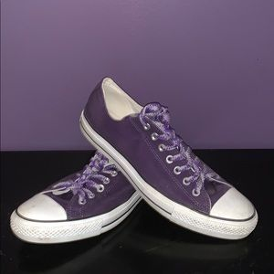Purple Converse All Star Low Tops